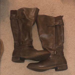 Tall Taupe Boots